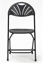 Cosco Home And Office Zown Heavy Duty Plastic/Resin Folding Chair Home and Office Color: Black
