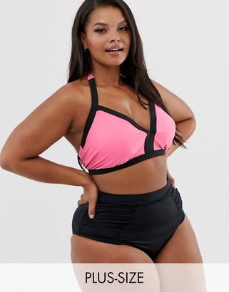 Junarose contrast trim bikini top
