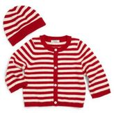 Saks Fifth Avenue Baby's Two-Piece Striped Cashmere Cardigan & Hat Set