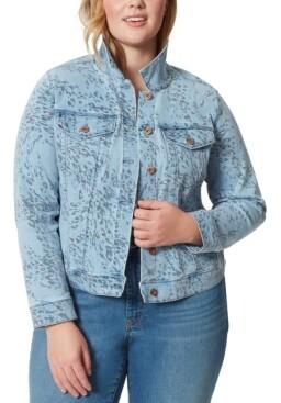 Jessica Simpson Trendy Plus Size Peony Jean Jacket
