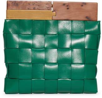 Bottega Veneta Snap Wood & Intrecciato Leather Clutch