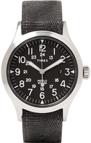 Timex - Scout Brook Stainless Steel And Stonewashed Webbing Watch