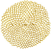 Chilewich Pressed Vinyl Dahlia Round Placemat - Gold