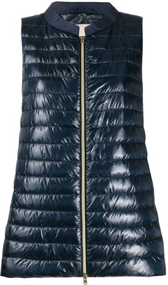 Herno A-line quilted gilet