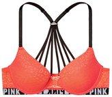 Victoria's Secret Pink Strappy Back Leopard Lace Push-Up