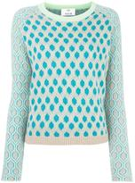 Allude honeycomb pattern jumper