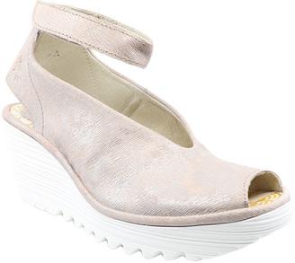 Fly London Women's Sandals 060 - Rose Corcuma Ankle-Strap Yala Leather Peep-Toe Sandal - Women