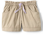 Classic Little Girls Woven Shorts-Soft Magenta