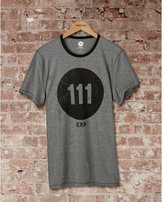 Express one eleven circle logo graphic t-shirt