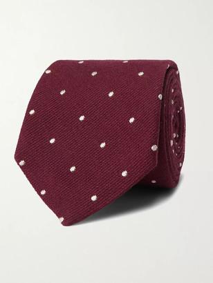 Paul Smith 8cm Polka-Dot Wool And Silk-Blend Tie