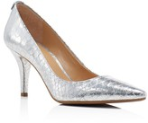 MICHAEL Michael Kors Flex Metallic Snake-Embossed Pointed Toe Pumps