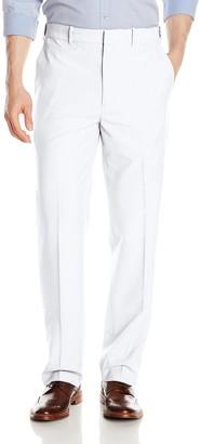 Savane Men's Flat Front Textured Linen Pants