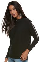 JLO by Jennifer Lopez Women's Ribbed Crewneck Dolman Sweater