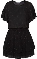 IRO Naelle Printed Gauze Dress - Black