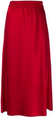 Theory Straight Fit Midi Skirt