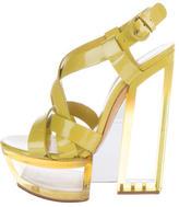 Casadei Leather Sculptural Sandals