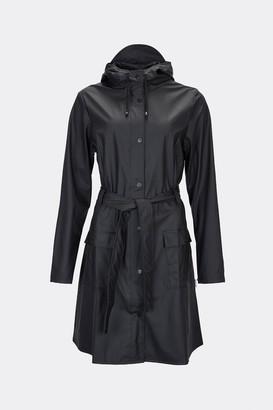 Rains Black Curve Jacket - XXS/XS | black - Black/Black