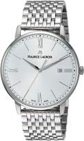 Maurice Lacroix Men's 'Eliros' Swiss Quartz Stainless Steel Casual Watch, Color:-Toned (Model: EL1118-SS002-110-2)