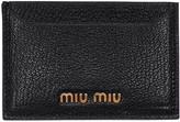 Miu Miu Black Logo Card Holder