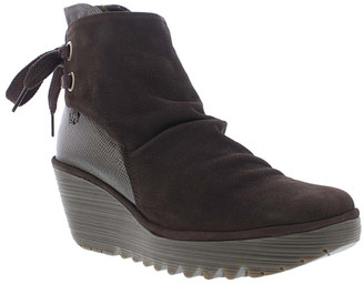 Fly London Women's Casual boots 053 - Chocolate & Bronze Yama Suede Boot - Women