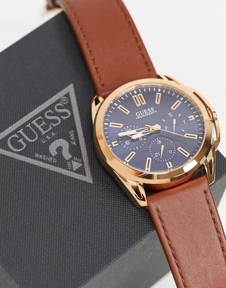 GUESS watch with blue dial