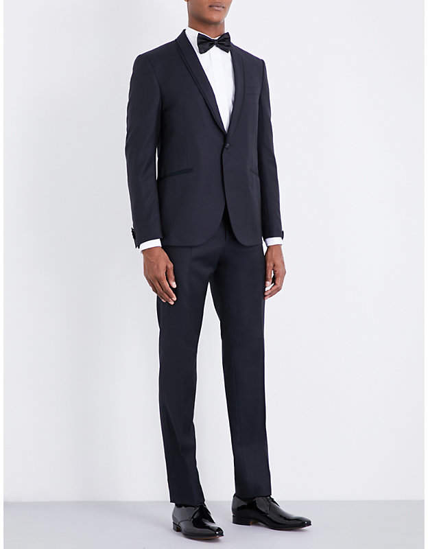 Corneliani Basketweave-patterned regular-fit wool tuxedo