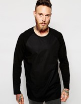 Weekday Long Sleeve Top Smith Longline Raglan Nylon Body
