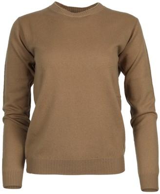ALEXANDRA GOLOVANOFF Virgile Cashmere Crew Neck Sweater Camel
