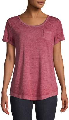 Style&Co. Style & Co. Scoop Neck Burnout Tee