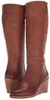 Frye Emma Wedge Tall (Tan) Women's Boots