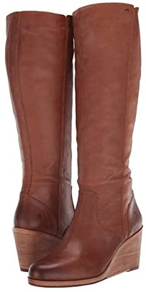 Frye Emma Wedge Tall (Tan) Women's Boots