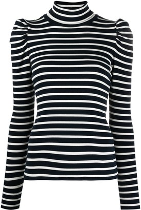 Veronica Beard Roll-Neck Long-Sleeve Top