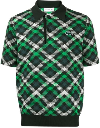 Lacoste Check-Print Polo Shirt