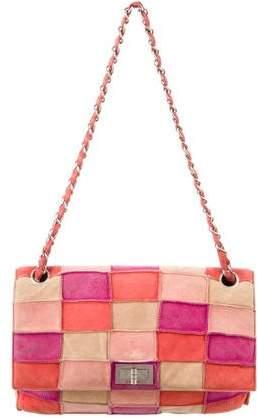 Chanel Suede Patchwork Flap Bag