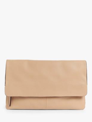 John Lewis & Partners Leather Mistry Clutch Bag
