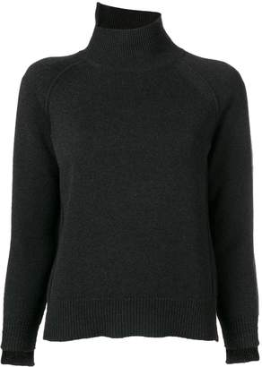 Helmut Lang asymmetric turtleneck jumper