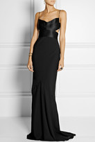 Narciso Rodriguez Cutout silk-satin and georgette gown