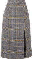 ALEXACHUNG Checked Tweed Pencil Skirt - Gray