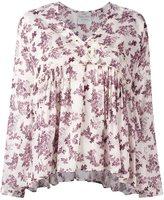 Forte Forte floral print v-neck blouse