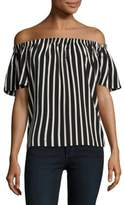French Connection Striped Off-the-Shoulder Top