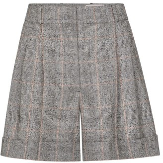 Alexander McQueen Checked wool shorts