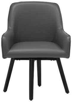 Studio Designs HOME Spire Luxe Swivel Arm Chair Upholstery Color: Smoke Gray