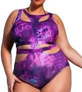Eternatastic Women's One-piece Monokini Swimsuit Swimwear Plus Size Bikinis 3XL