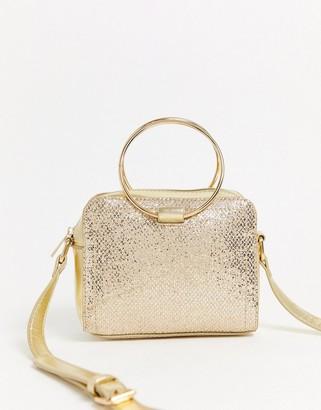 Yoki Fashion glitter structured clutch bag