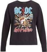 Gucci AC/DC-print crew-neck cotton sweatshirt