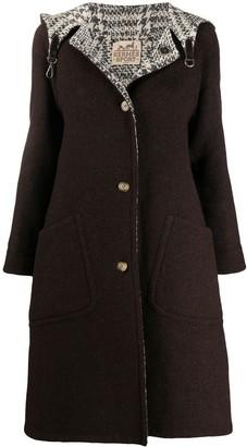 Hermes 1990s Pre-Owned Reversible Hooded Coat