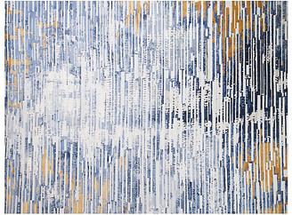 F.J. Kashanian 9'x12' Regal Rug - Blue/Gold