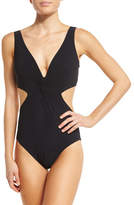 Karla Colletto Basics V-Neck Monokini Swimsuit
