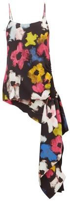 Colville - Asymmetric Floral-print Top - Womens - Multi