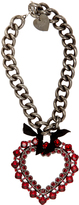 Lanvin Crystal-embellished heart pendant necklace